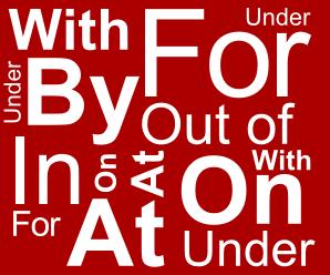 Предлоги перед существительными, выражения образа действия в английском языке